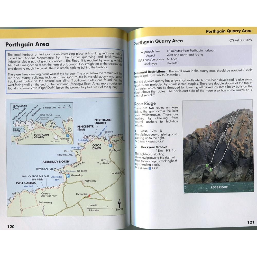 Pembroke Volume 1 guide, inside page examples including maps and photos
