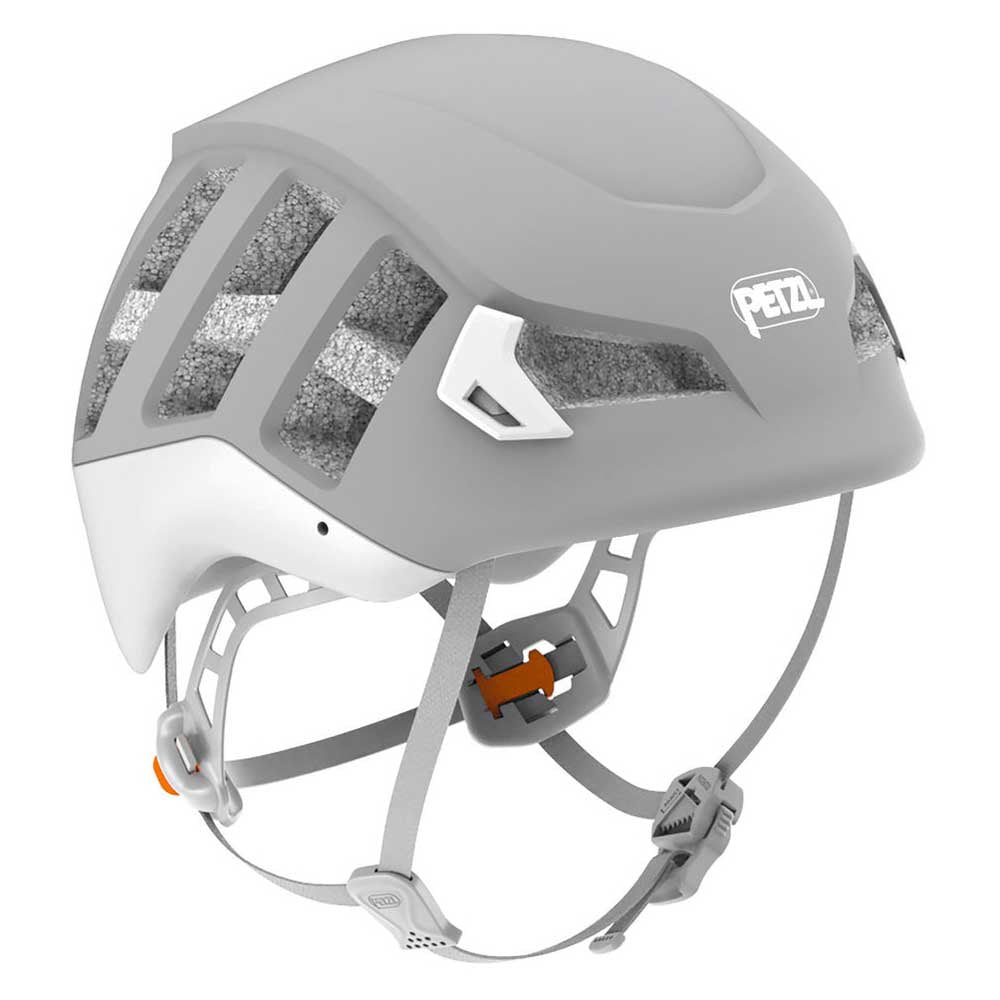 Petzl Meteor helmet, front/side view in Grey colour