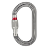 Petzl OK Oval Screwgate carabiner, in silver
