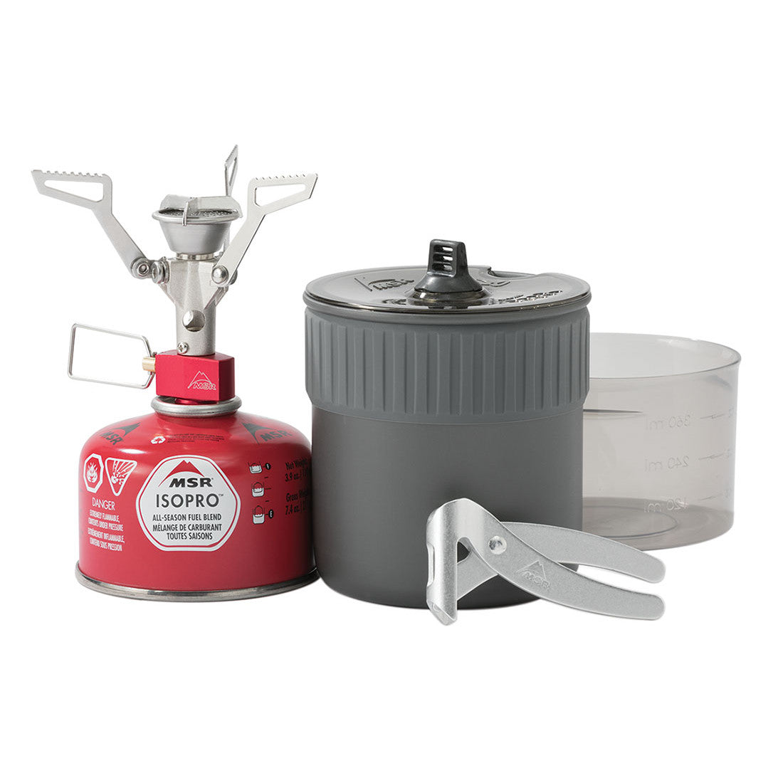 MSR PocketRocket 2 Mini Stove Kit with contents shown side by side