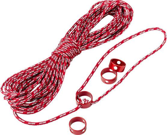 MSR Reflective Utility Cord Kit, in red colour