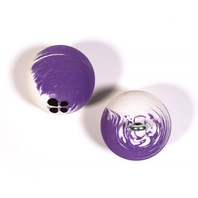 Lapis Rollyballs (Large) shown side by side, in purple and white colour