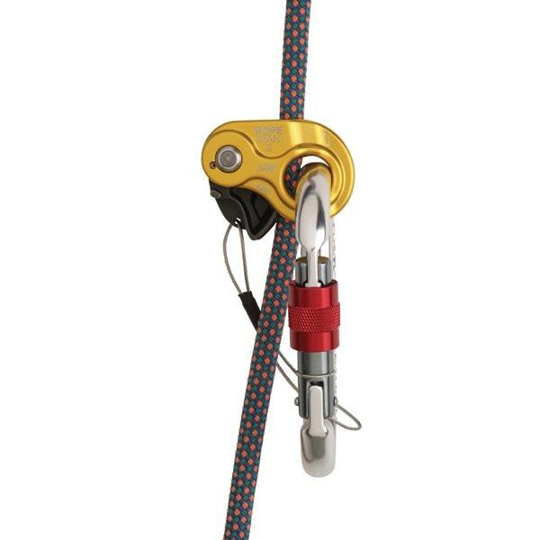 Wild Country Ropeman 2 ascender, shown in use with a climbing rope