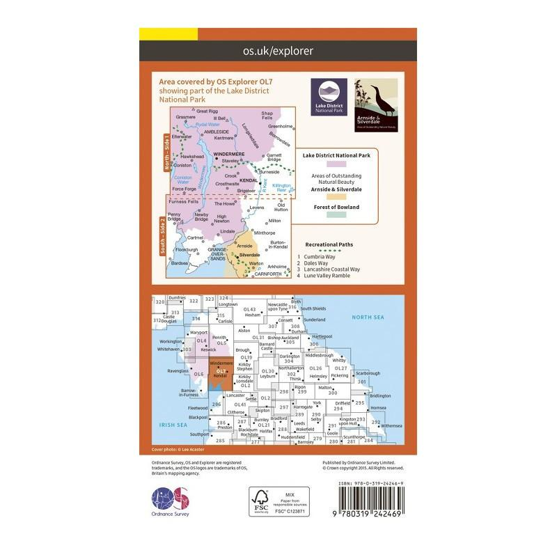 The English Lake District SE Area - OS Explorer Map OL7 Active