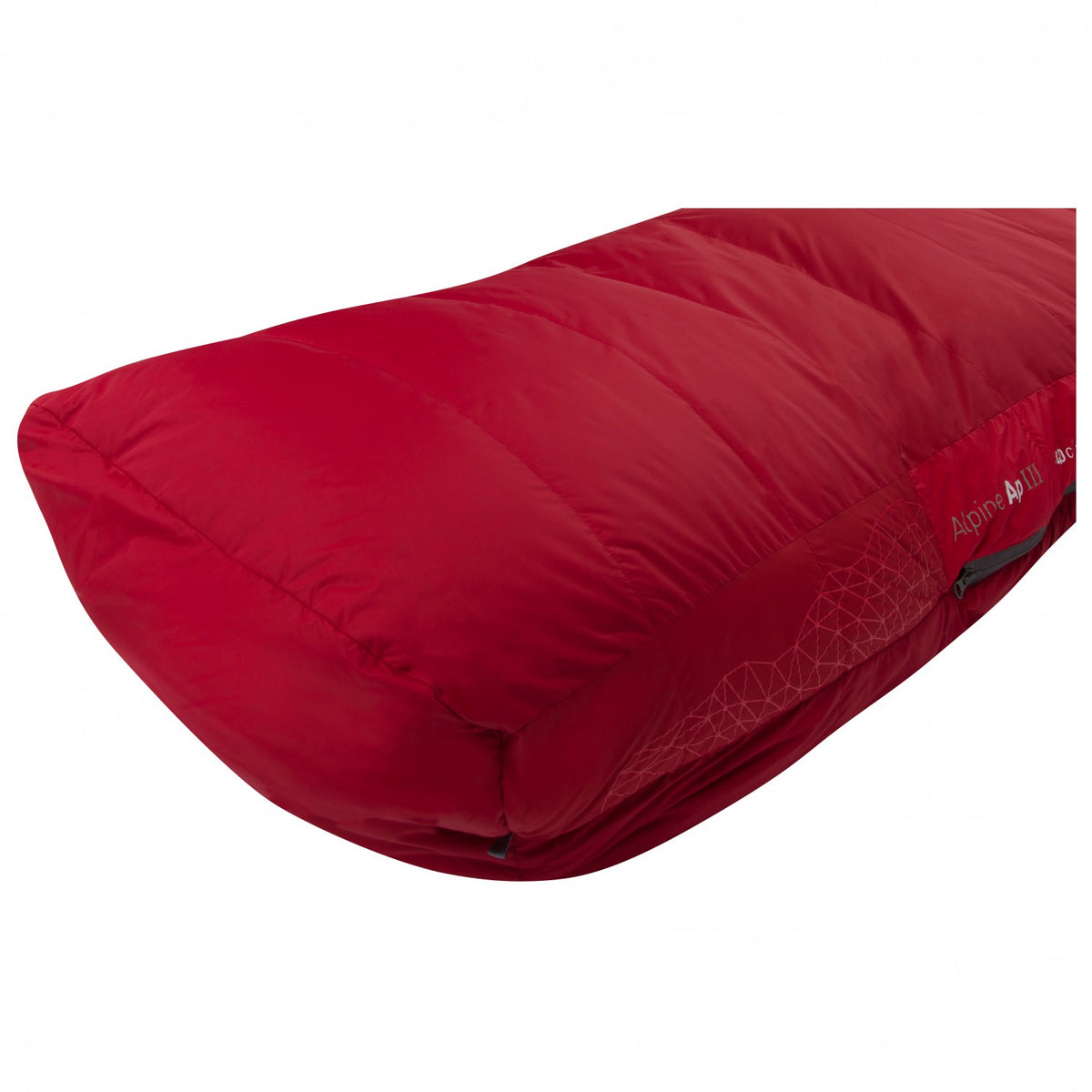 Sea to Summit Alpine III sleeping bag showing the bottom foot bed