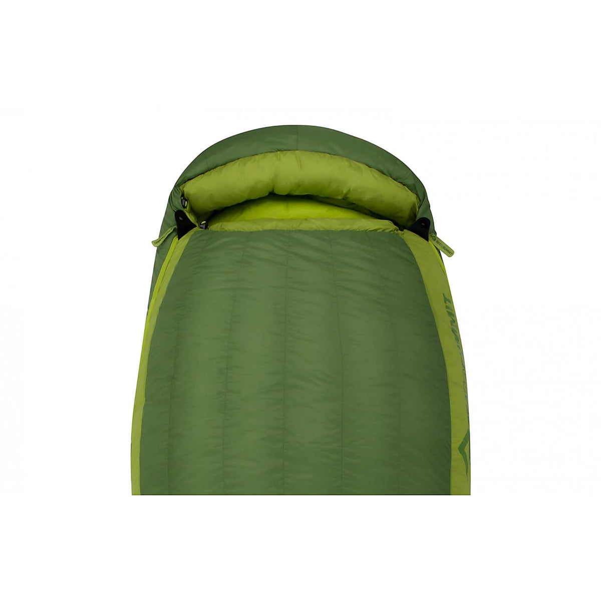 Sea to Summit Ascent III sleeping bag, showing the head end
