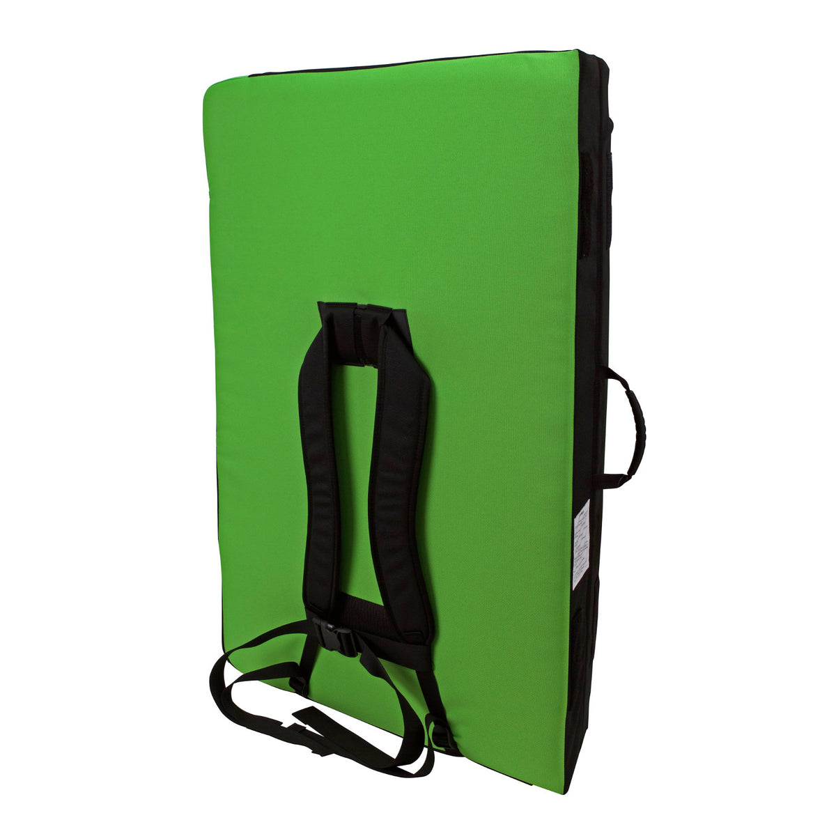 Metolius Session II crash pad, showing reverse side with shoulder straps