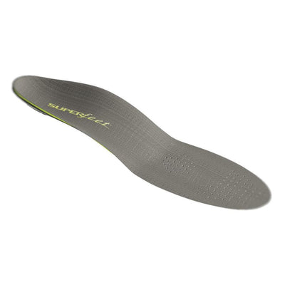 Superfeet Carbon insoles, top of the insoles shown in grey colour