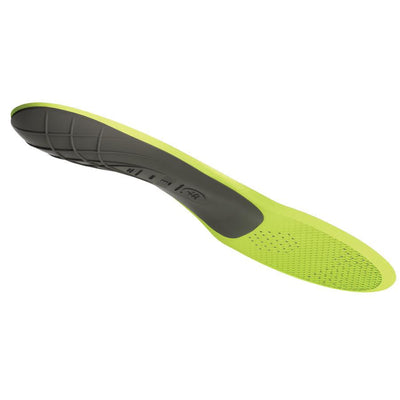 Superfeet Carbon insoles, reverse side shown in yellow and black