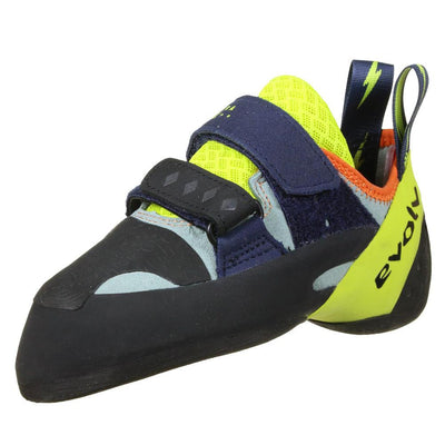Evolv Shakra climbing shoe, view of the outside of the shoe