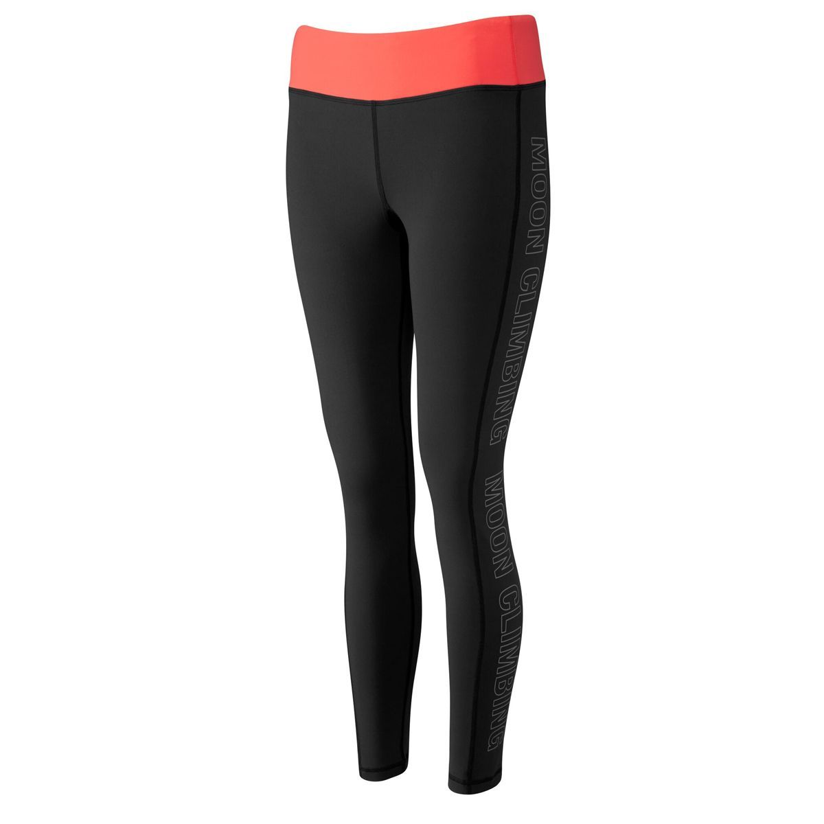 Moon Sigma Leggings Womens, front/side view in Black and Peach colours