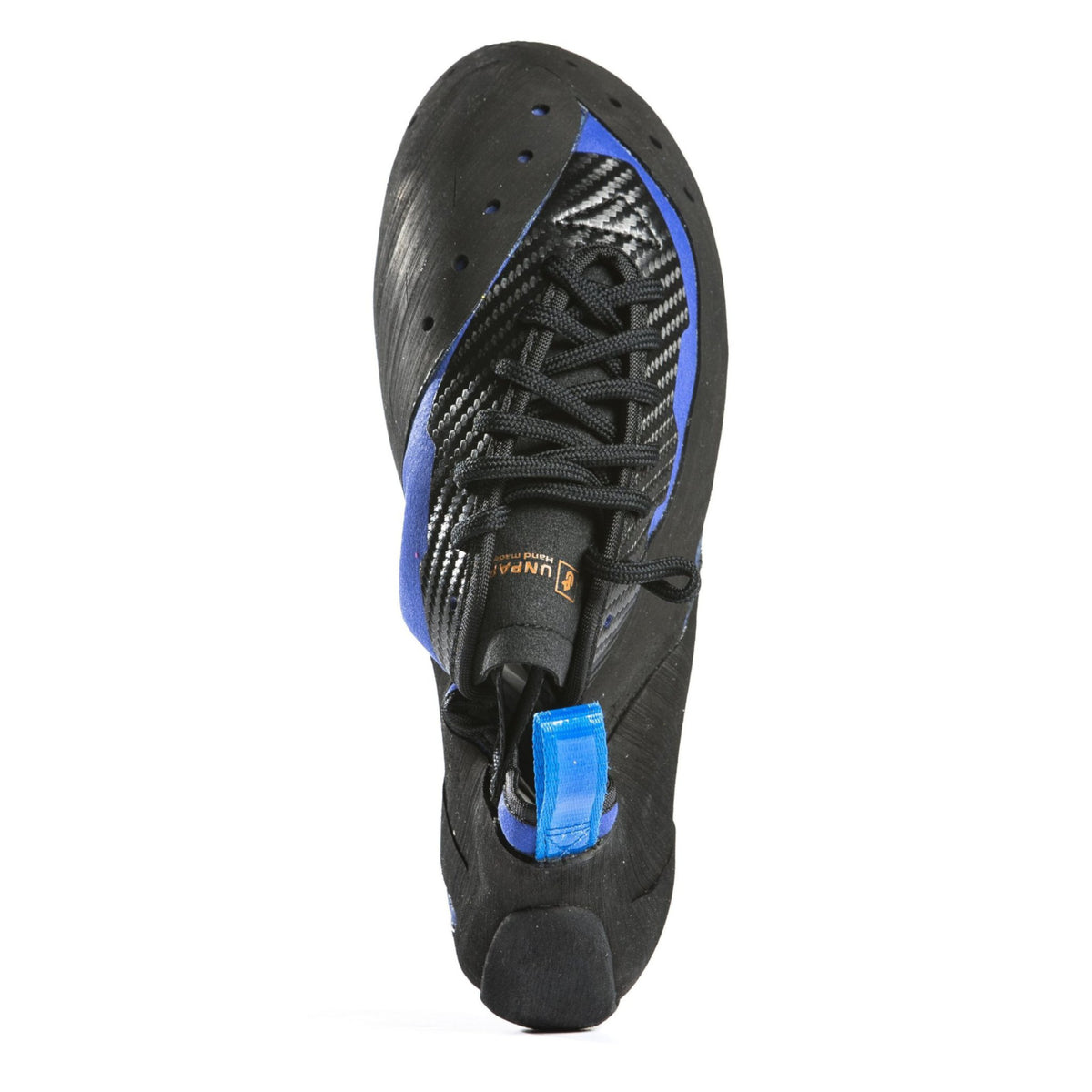 Unparallel Sirius Lace climbing shoe, view from above showing lace design detail