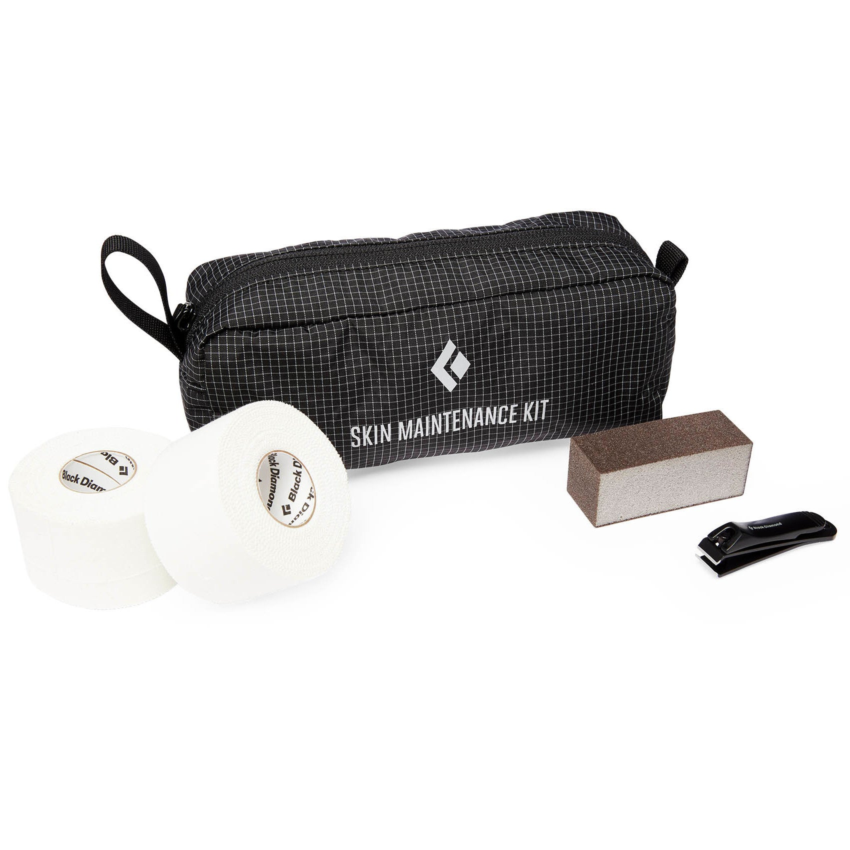 Black Diamond Skin Maintenance Kit, all parts shown outside of carry bag
