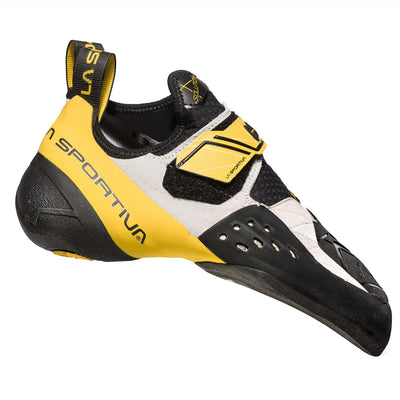 La Sportiva Solution climbing shoe, as seen from the outside