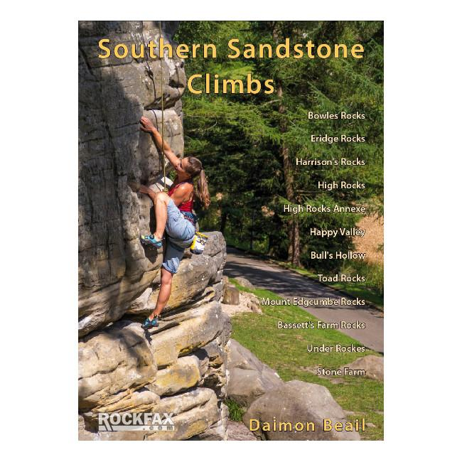Southern Sandstone Rockfax climbing guidebook, front cover