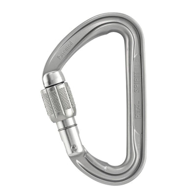 Petzl Spirit Screw Lock Carabiner, in silver