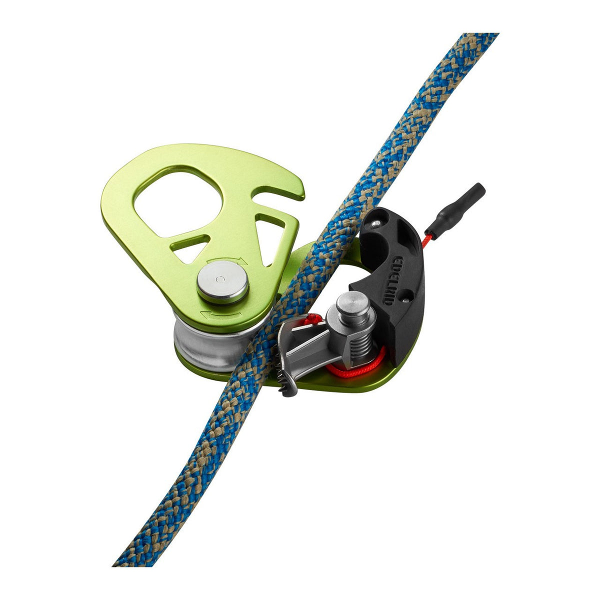 Edelrid Spoc shown with rope being inserted