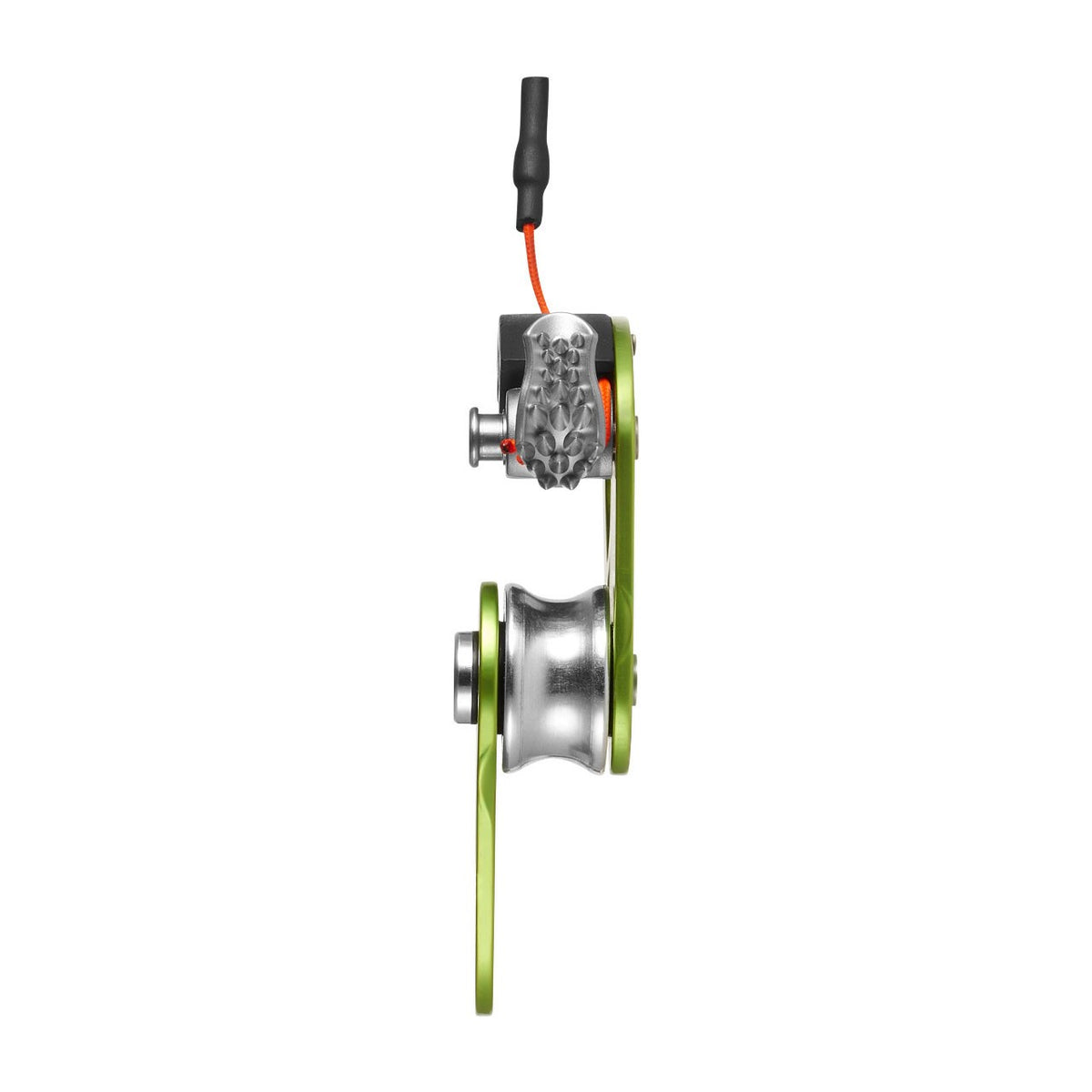 rear view of the Edelrid Spoc showing cam mechanism