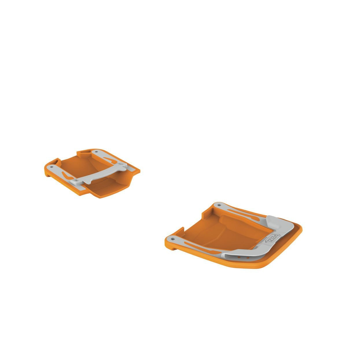 Petzl Irvis Antisnow (AB Plates), shown as a pair in orange colour