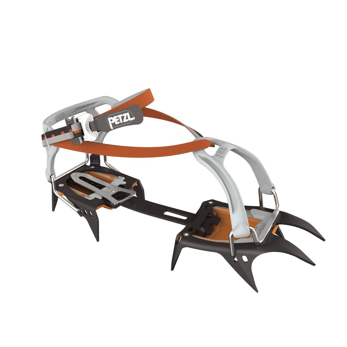 Petzl Irvis FlexLock Crampon, in black, orange and silver colours