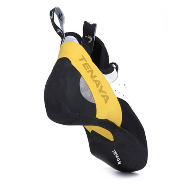 Tenaya Tarifa climbing shoe, rear view showing the sole and heel cup