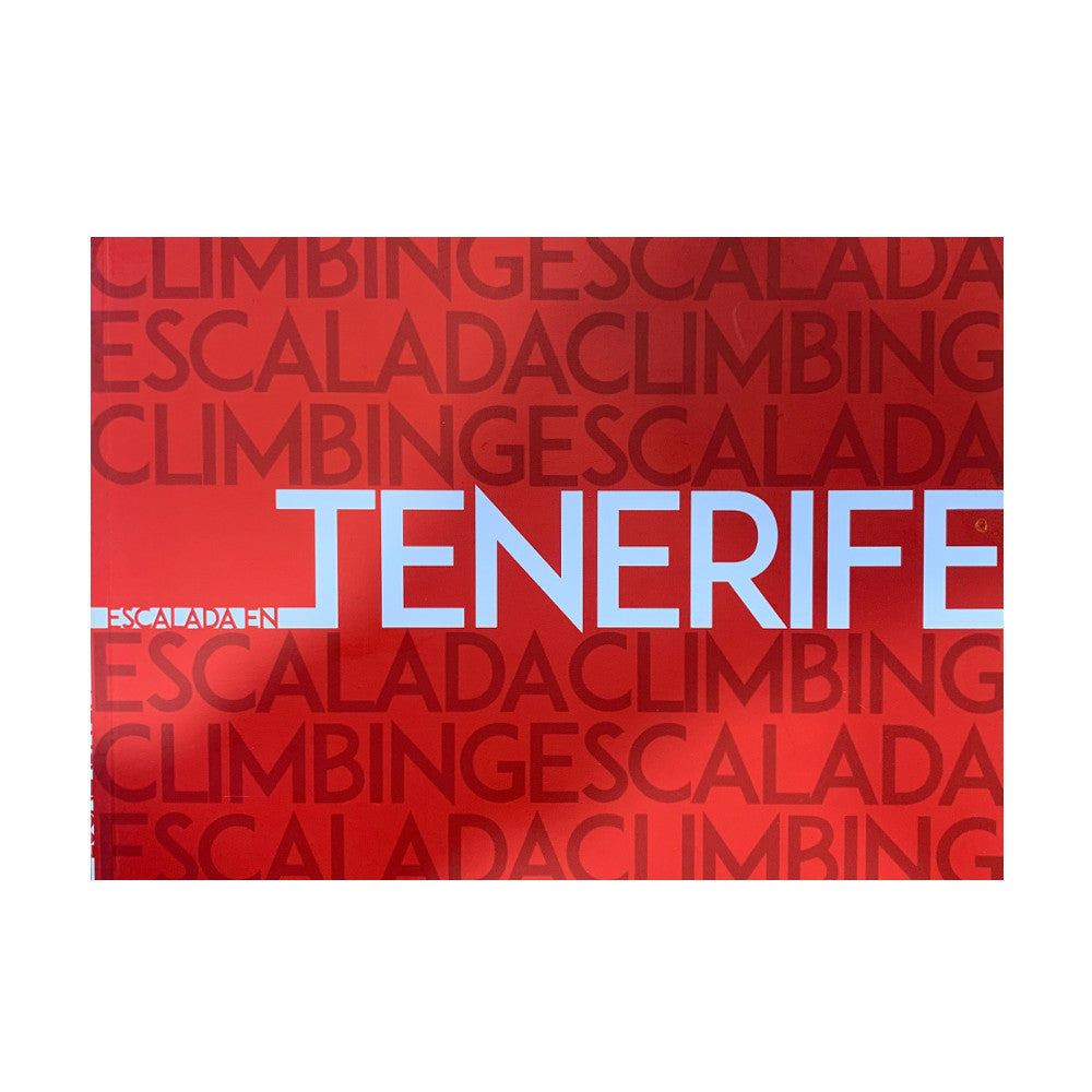 Tenerife Sport climbing guide book, front cover in Red