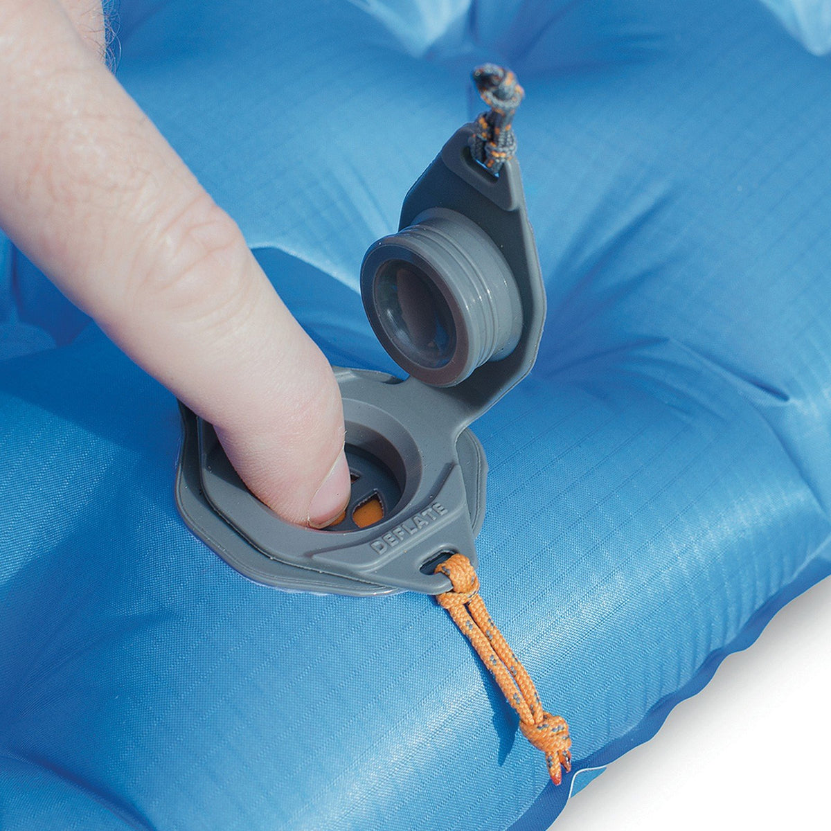 Sea to Summit UltraLight Insulated Mat, showing air valve detail