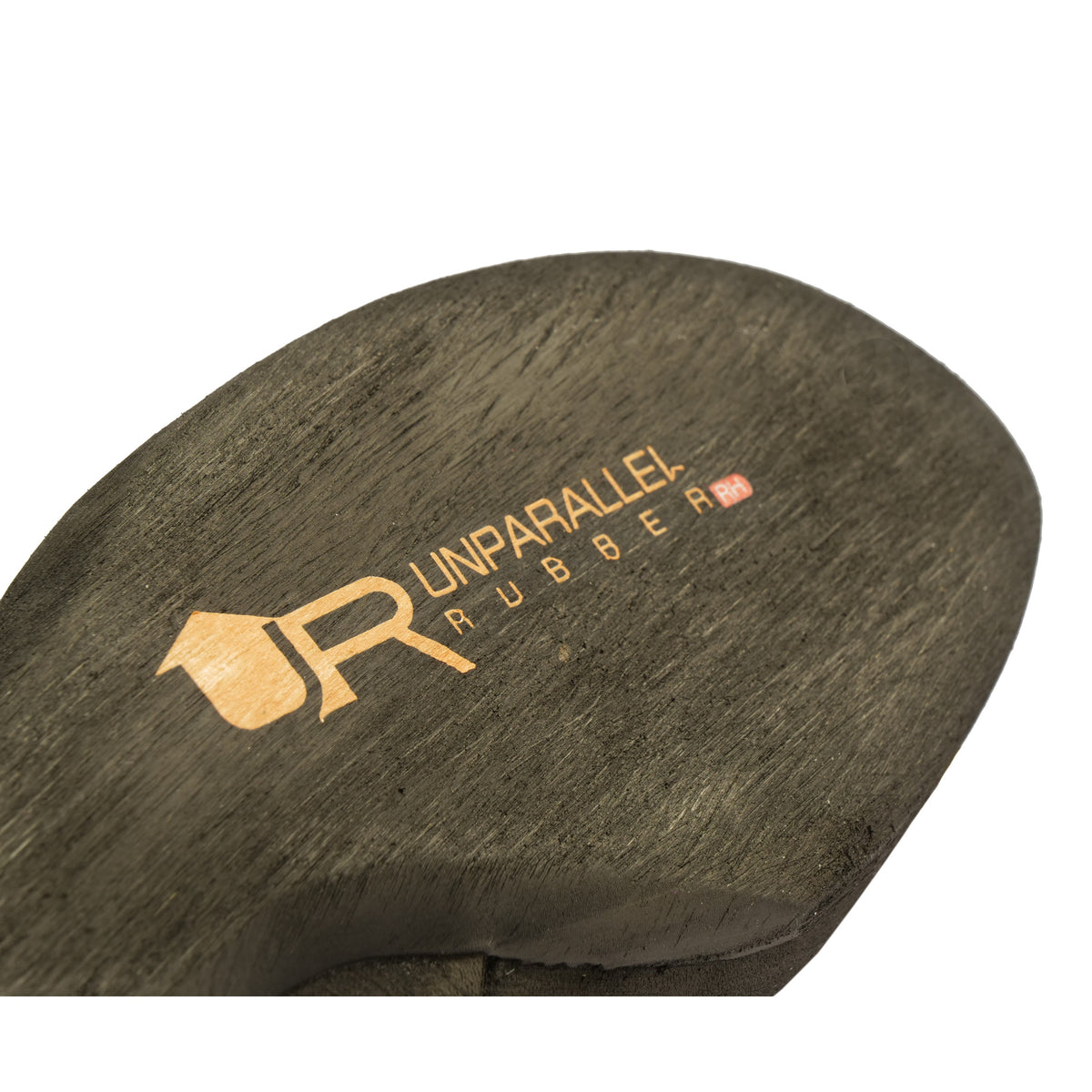 Unparallel RH Rubber sole in black with orange logo