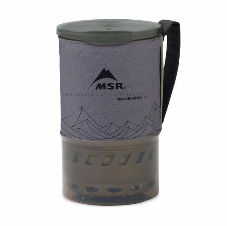 MSR Windburner camping stove 1L Pot (Grey)