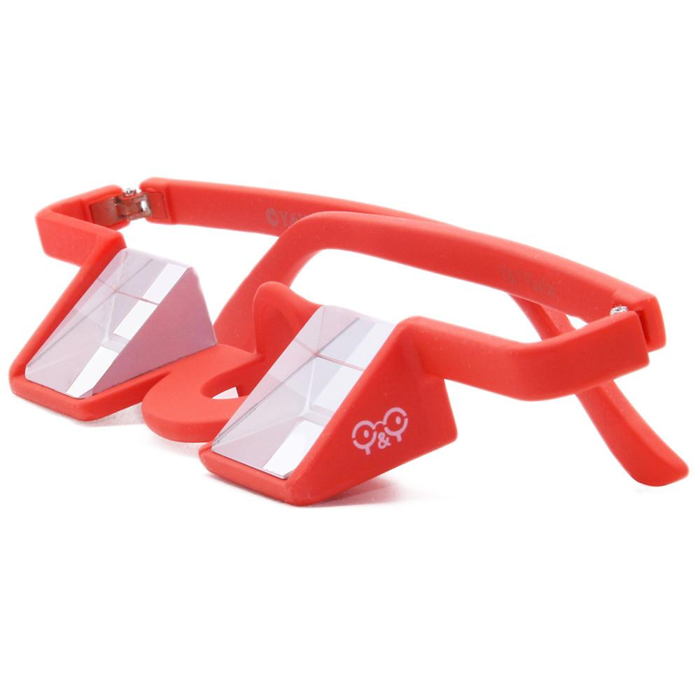 Y&Y Plasfun Belay Glasses for climbing, in red