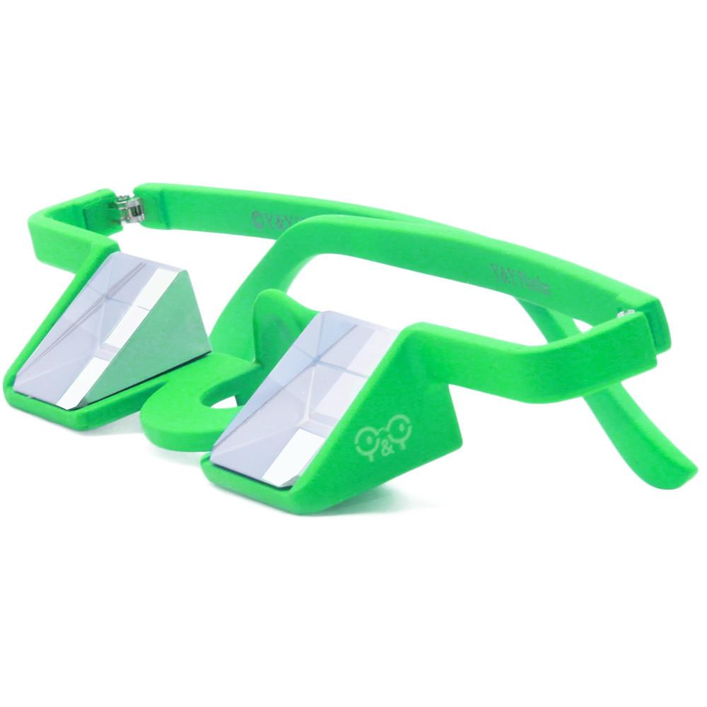 Y&Y Plasfun Belay Glasses for climbing, in green