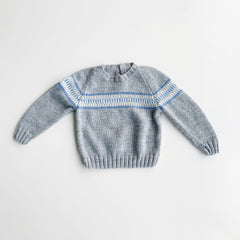 Vintage Hand knit - grey wool