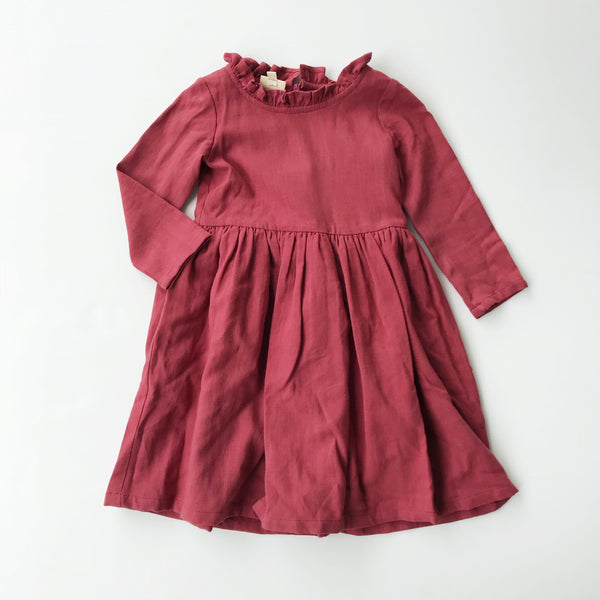 BEATRICE DRESS- WINTER BERRY