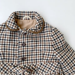 VINTAGE WINTER COAT - HOUNDSTOOTH 2-3YRS