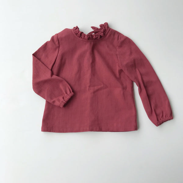 BEATRICE BLOUSE-WINTER BERRY