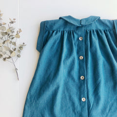 Clementine Dress- Peacock Blue
