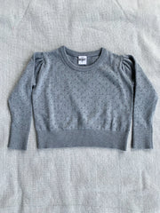 Pointelle Jumper - Grey