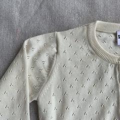 Pointelle Cardigan - Milk