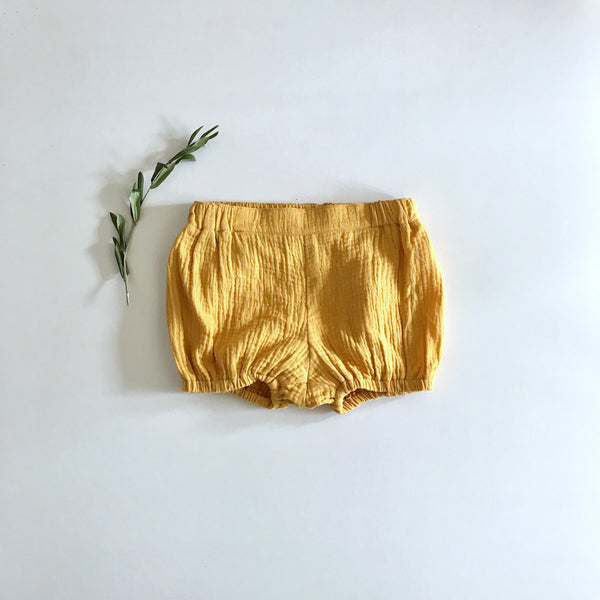 SUMMER BLOOMERS- MUSTARD DOUBLE GAUZE