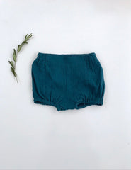 SUMMER BLOOMERS- DARK TEAL DOUBLE GAUZE
