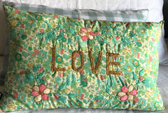 Liberty of London- Fair trade cushion by Ondine CSAO 'LOVE'