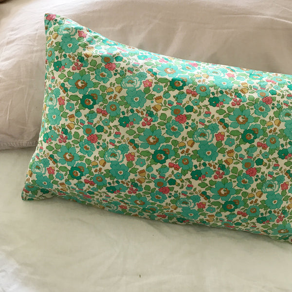 BREAKFAST PILLOW- LIBERTY OF LONDON BETSY BLUE