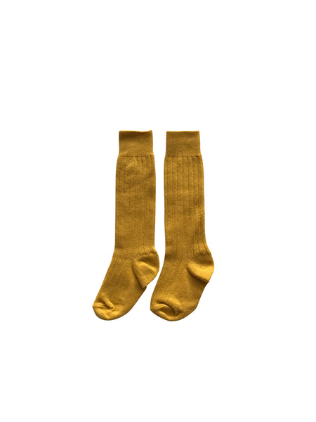 KNEE HIGH SOCKS - GOLD