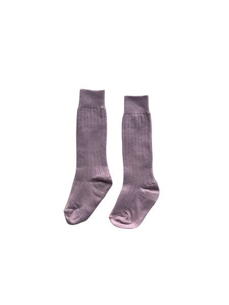 KNEE HIGH SOCKS - LILAC