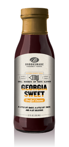 Brooksmade Gourmet Foods Soulful Sauces, Georgia Sweet Barbecue Sauce, Gluten Free, No High Fructose Corn Syrup Georgia Sweet BBQ Sauce & Marinade, 12 oz