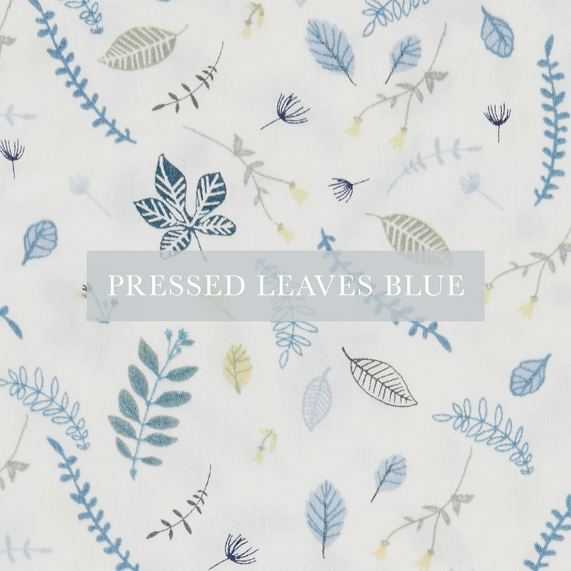 Pressed Leaves Blue
