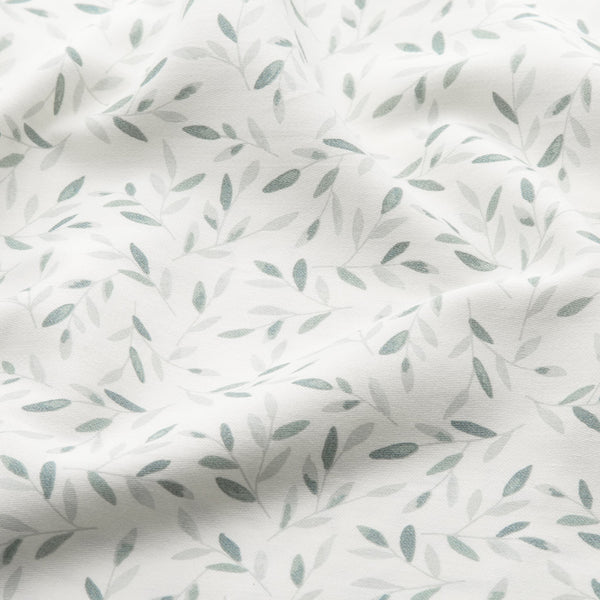 Bedding, Baby, 70x100cm - GOTS Green Leaves