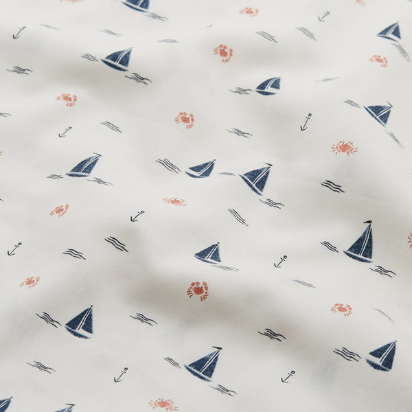 Bedding, Junior, 100x140cm - GOTS Sailboats