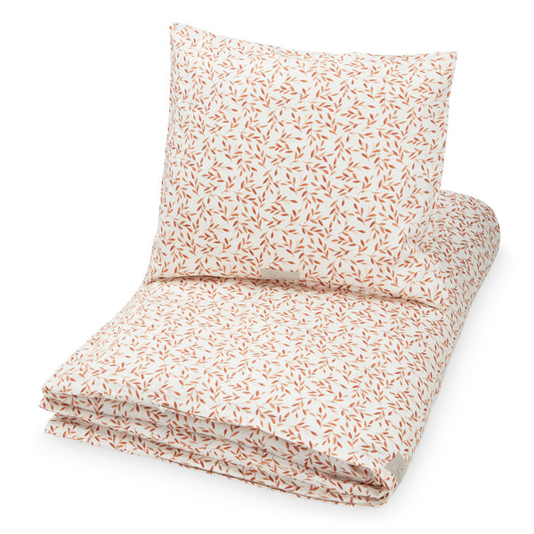 Bedding, Junior, German 100x135cm - GOTS Caramel Leaves