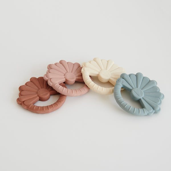 Flower Teether - Dusty Rose
